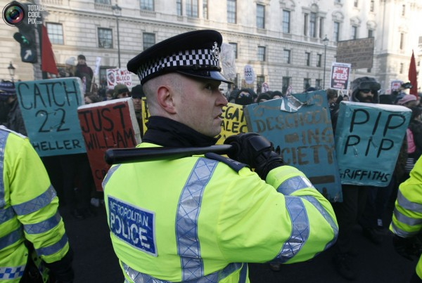Police protect people from books