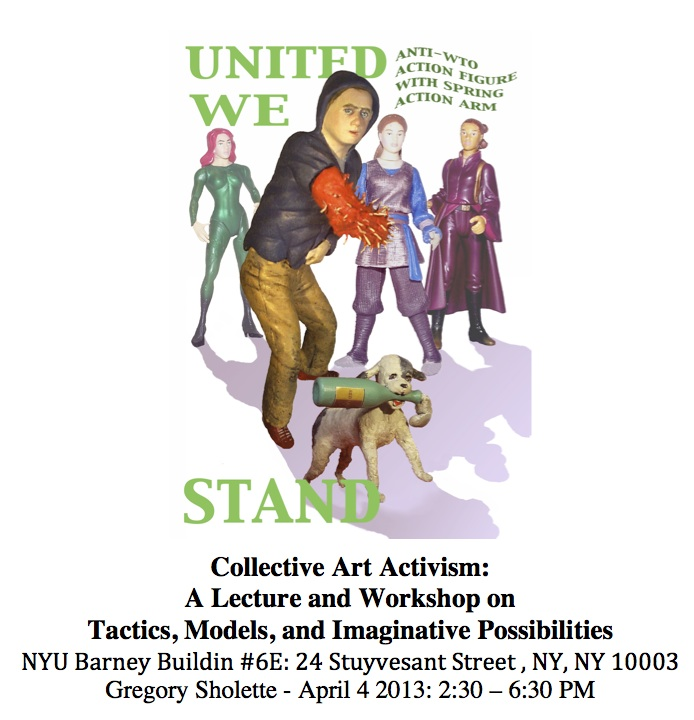 NYU Sholette Collective Activism Workshop 2013