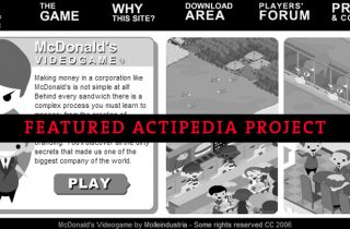 ACTIPEDIA REVISITED: McDONALD's VIDEOGAME