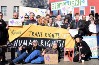 School for Creative Activism Berlin Participants Put a Trans Mark on the City!
