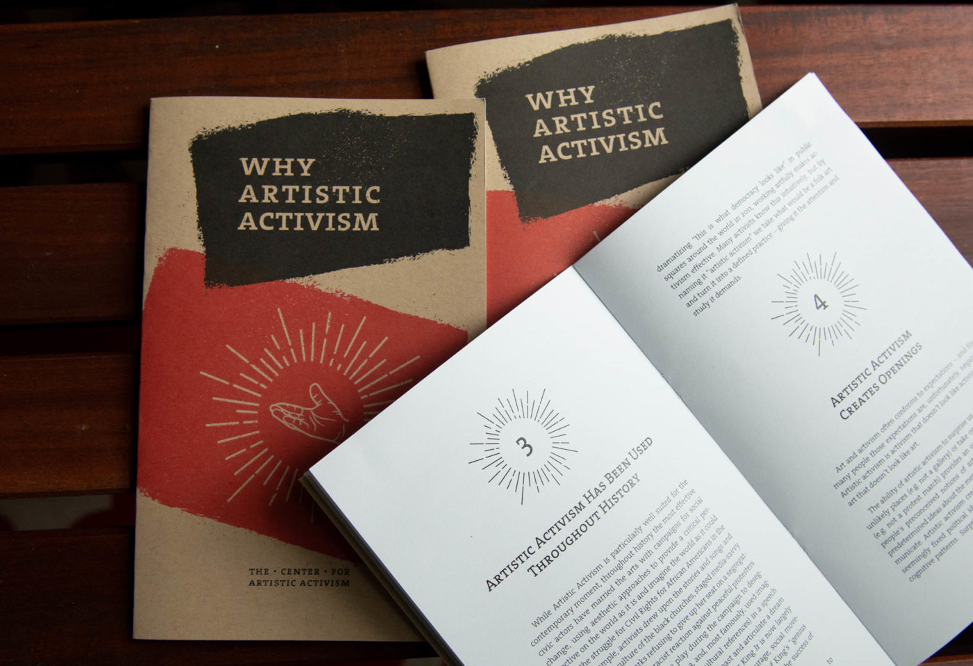 Publications of the Center for Artistic Activism