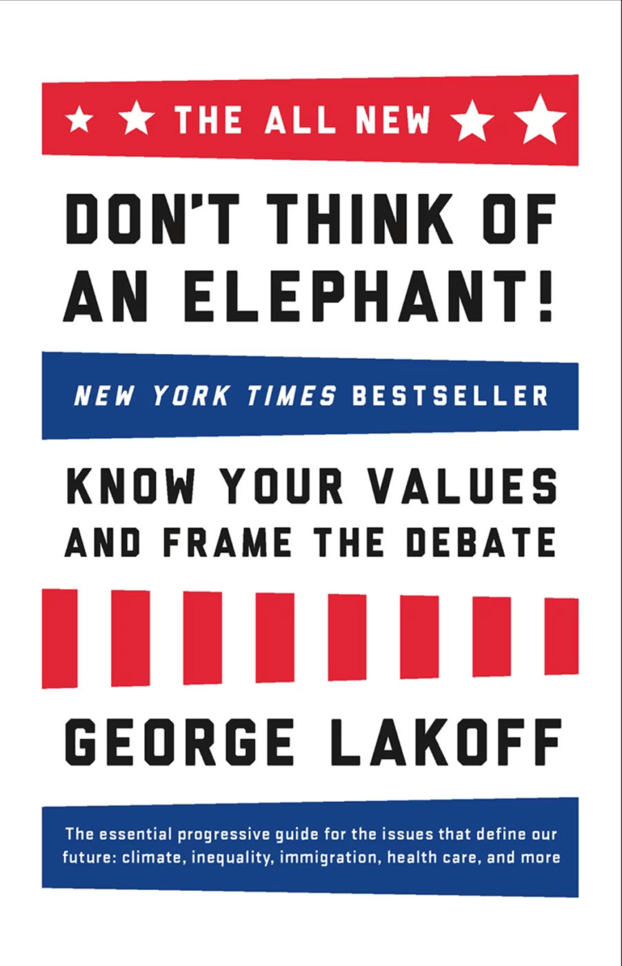 Don't Think Of an Elephant! Know Your Values and Frame the Debate: The Essential Guide for Progressives book cover