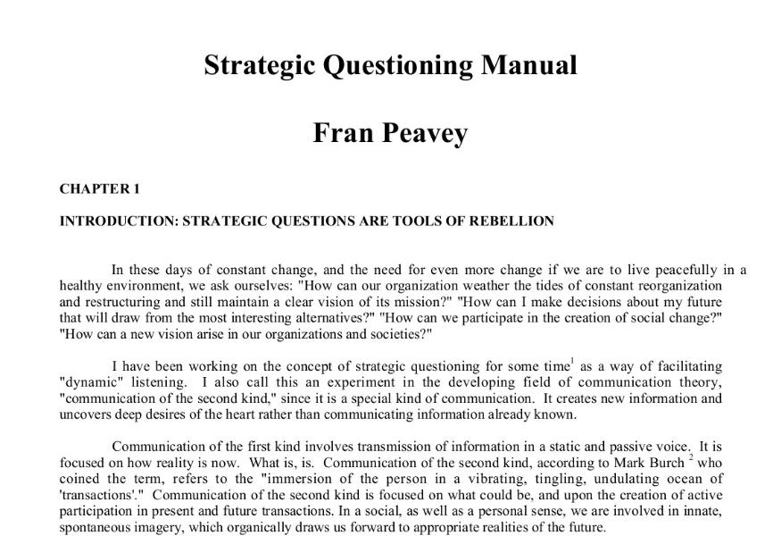Fran Peavey Cover