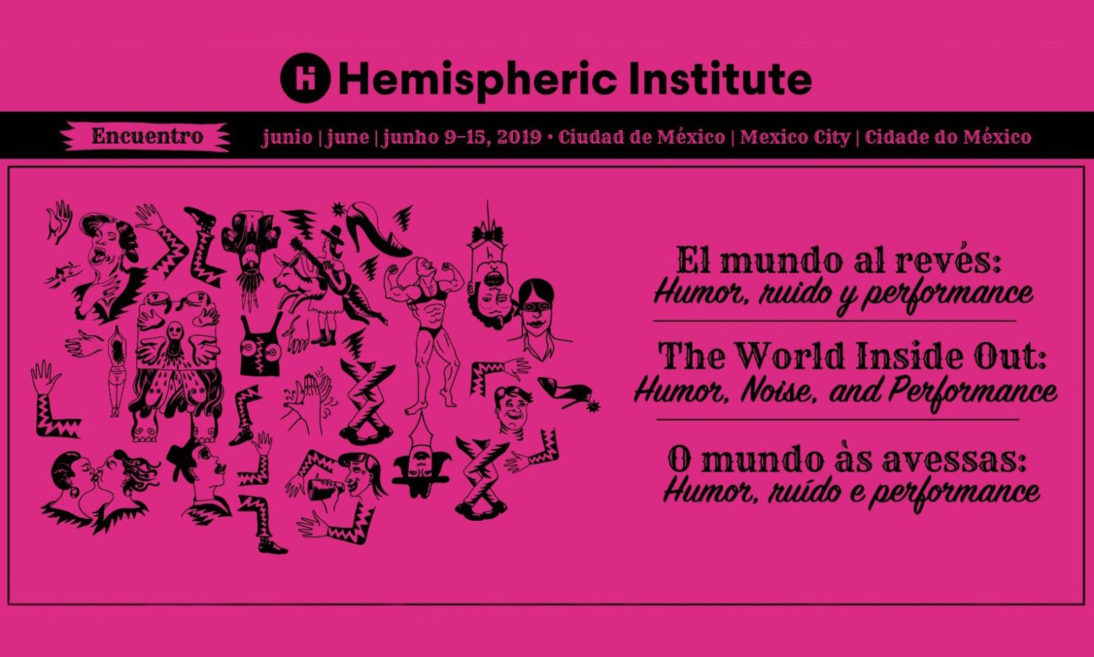Flyer for Hemispheric Institute Encuentro