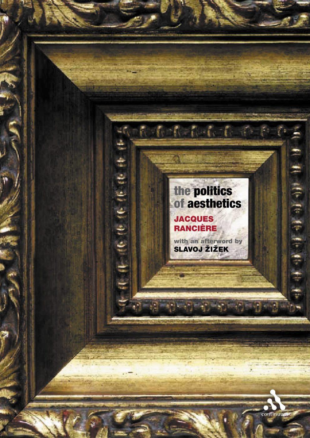 politics of aesthetics book cover