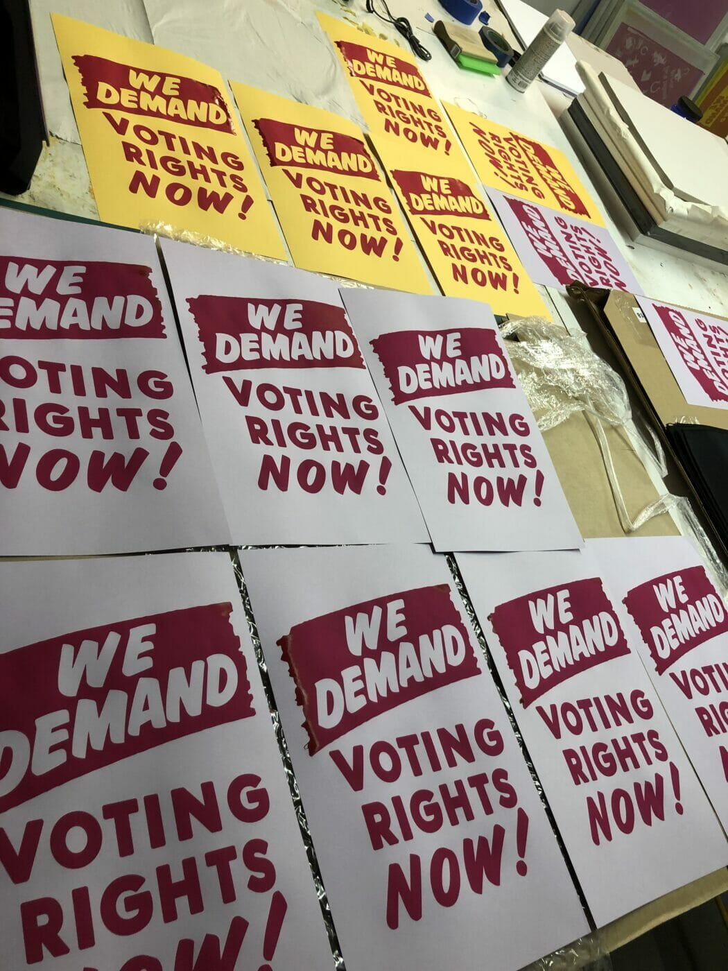 Posters: We Demand Voting Rights Now!