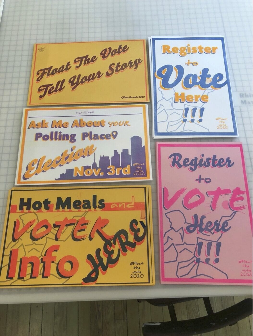 Posters to plaster food trucks in Detroit for the Float the Vote project