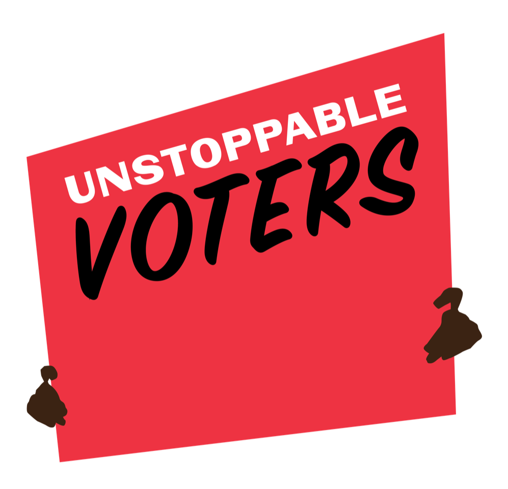 Center for Artistic Activism Unstoppable Voters Logo